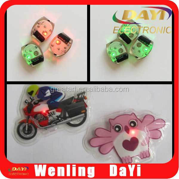 Cartoon patches for clothing , led light module battery for garments accessories
