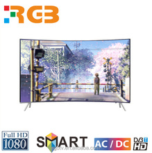 Cool color Cabinet and LED Backlight Type Curved TV 55 inch