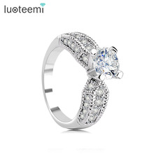 LUOTEEMI 2014 new white gold diamond ring hot sale ebay aliexpress jewellery
