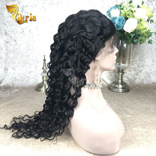 Nice thick human hair wig lace front wavy hair virgin brazilian wigs for black women