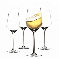 OEM Logo Personalized Mouth Blown Lead-free Crystal Clear Bordeaux Wine Glass