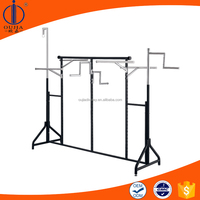 clothes shop display equipment/iron display rack/powder coating clothing rack