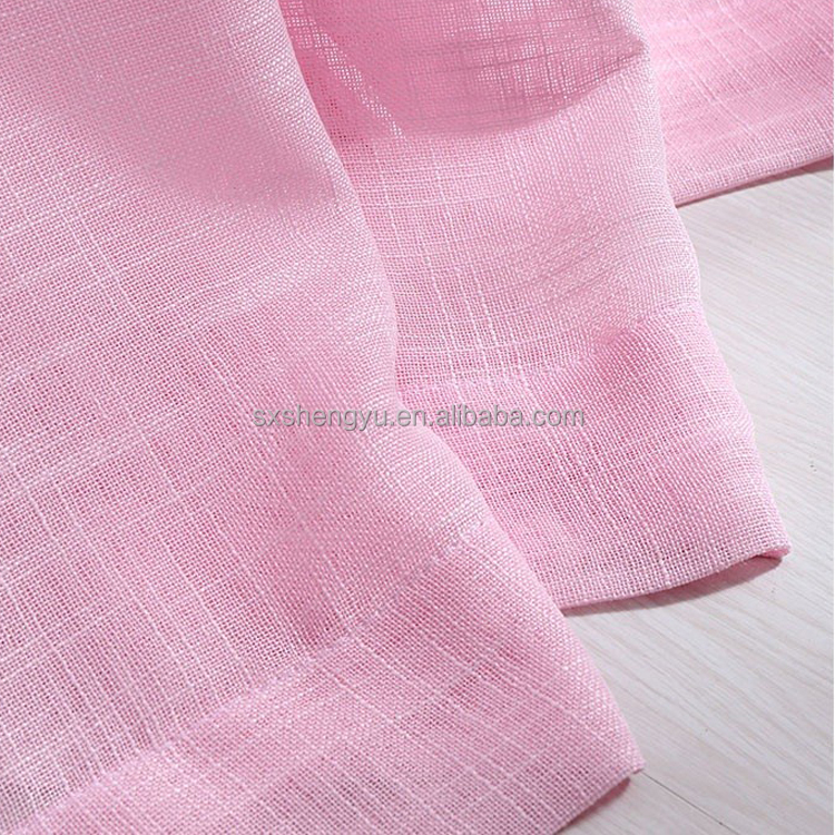 New product nature linen material light weight designs curtain