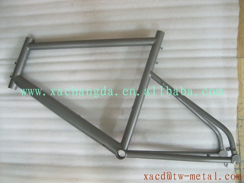 New design titanium road bike frame with weldless customized 700c titanium road bicycle frame XACD 48cm Ti road bike frame