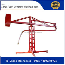 Building and small construction equipment 12m concrete placing boom for sale