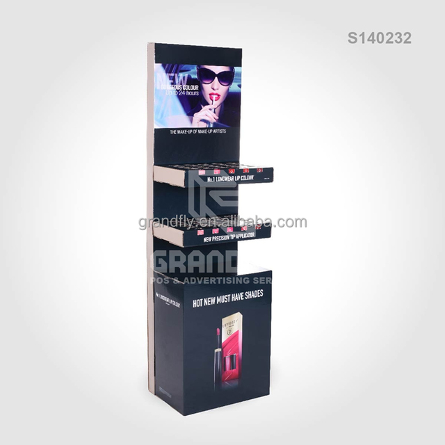POP Cosmetics Makeup Cardboard Display Stand for Product Showing