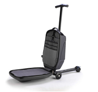 PC/EVA luggage 20 inch trolley suitcase with 3 wheels
