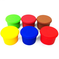 Candy Colors Food Graded Durable Silicone Wine Beer Beverage Glass Bottle Caps Stoppers Sealer Cover