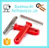 Wholesale Pet Supply Long Thick Hair Rake Comb Stainless Steel Pet Dog Grooming Comb