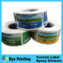 2012-top garde custom sticker label , roll food brand logo sticker with high quality, food garde label