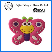 Wholesale Custom Butterfly Pvc Patch Soft
