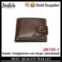 Lowest price luxury magic money clip engraved leather wallet with coin pocket