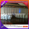 ESI white chiffon drapery fabric support for hotel decor backdrop