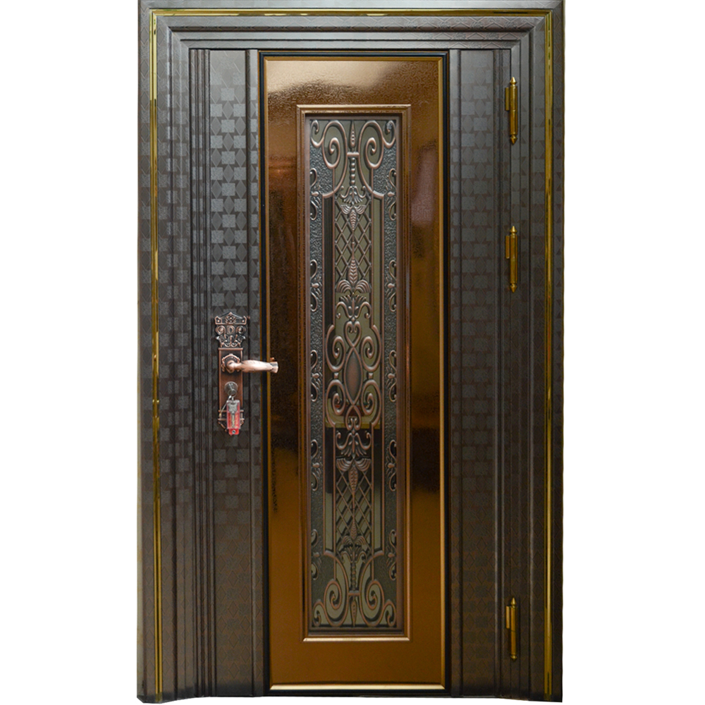 Laser cut turkish style single stainless steel security <strong>door</strong> design