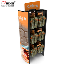 Factory Price Double Side Grid Panel 2-Way Movable Flip Flop Or Sneaker Sandal Hanging Display Stand