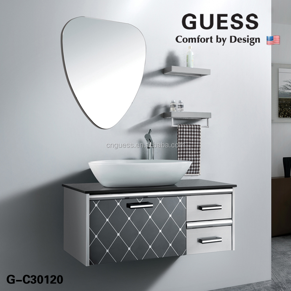 Stainless steel bathroom cabinet vanity modern bathroom Stainless steel bathroom vanities
