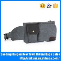 China canvas waist bag with mobile phone