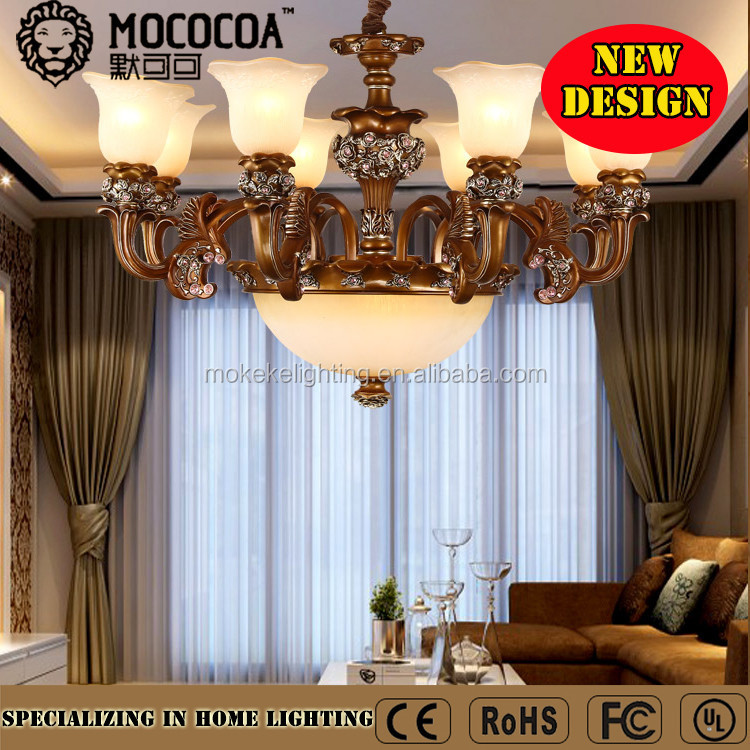 interior decoration black color and oil rubbed bronze iron material Big Chandelier
