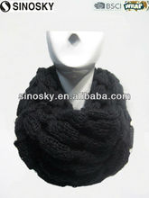 black knitted pattern neck warmer