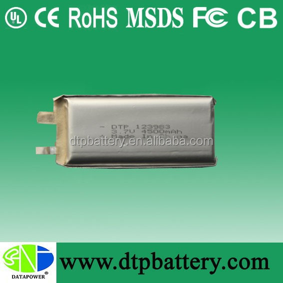 3.7v 4500mah rechargeable li-ion battery big battery