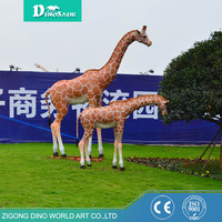 Exhibit Animatronics Life Size Animal Giraffe