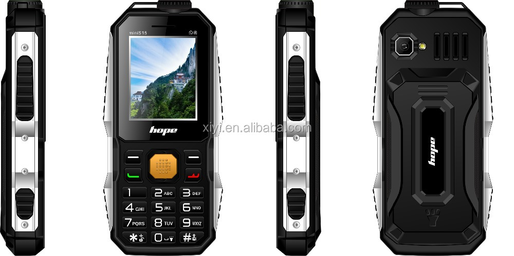 2016 Hope mini-S15 Waterproof Rugged Mobile Phone With 3800mAh Battery Power Bank Function