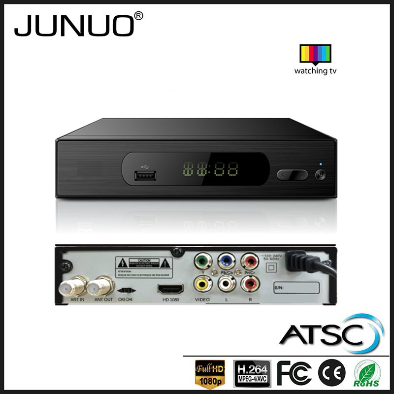 JUNUO OEM high quality free to air mpeg4 atsc set top box full hd 1080p