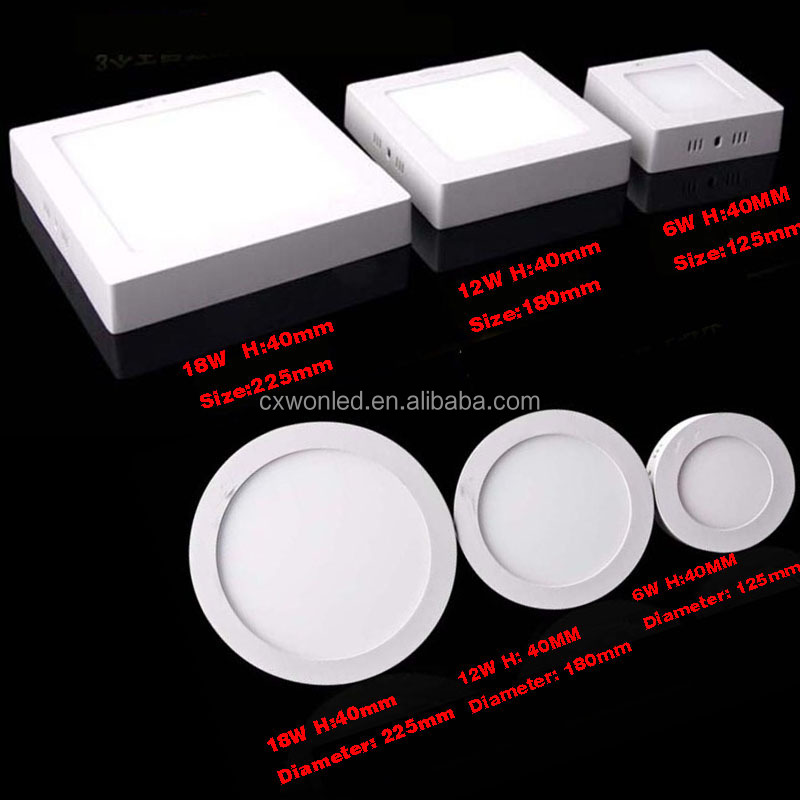 Surfaced mounted panel lights round led ceiling light