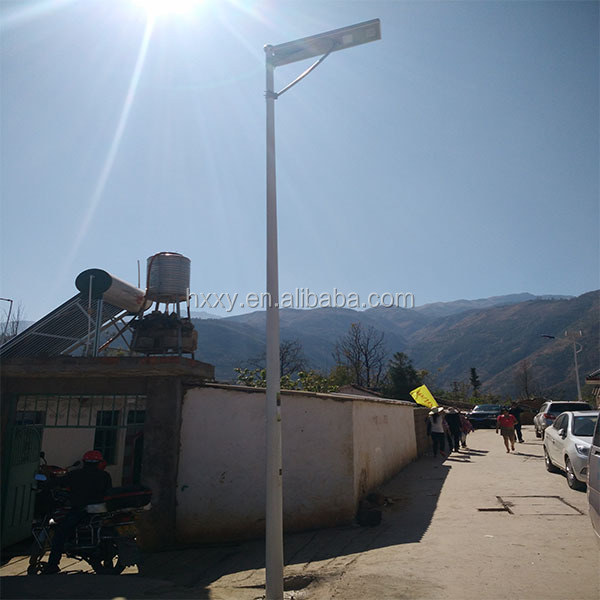 Integrated solar street light all in one lithium battery wireless installation CE/ROHS, high lumen solar garden pathway lights