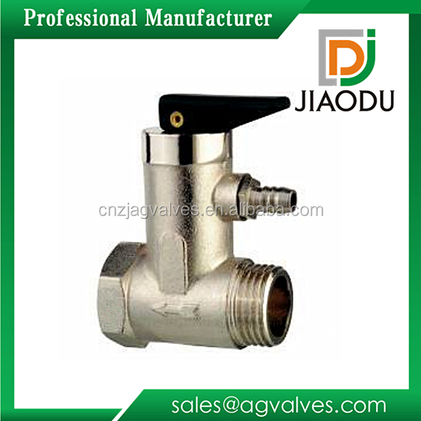 "Zhejiang China brass body 1/2"" 3/4"" Medium Temperature Nickel Plated DN15 DN20 high pressure brass safety relief valve"