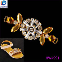 Galvanlized Metal Seals Polyester buckle sandals glue on resin stones