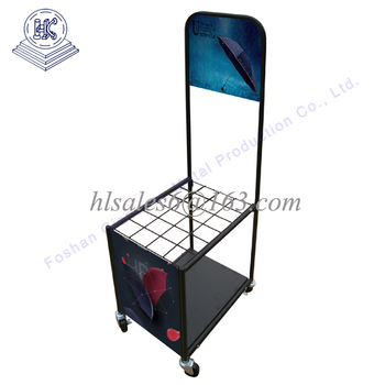 Metal umbrella display rack stand
