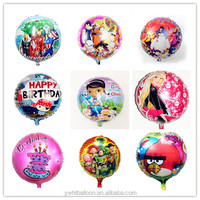 "HOT 18"" Round Foil Balloon Mixed 4000PCS/lot Cartoon Helium Balloon Sales Promotion Product"