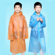 Kids Children Rain Ponchos With Hood&Sleeves, Portable Children Rain Coat Suit for Boys and Girls