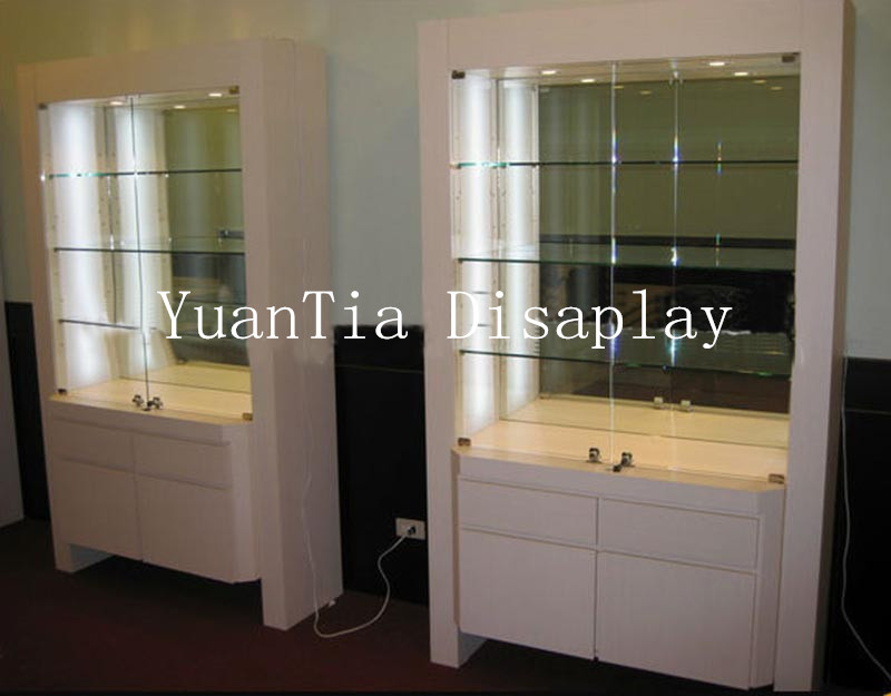 2014 bright white used glass jewelry display cases for sale