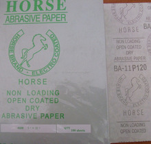 HORSE brand zinc-stearate coated abrasive white latex paper