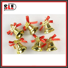 cheap high quality christmas glitter bell for indoor decoration