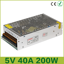 For WS2812B WS280 3528 5050 LED Strip driver AC110/220V 200W 5V 40A Switching Power Supply Transformer cctv advertising Display