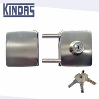 commercial double door bolt lock for double side glass door