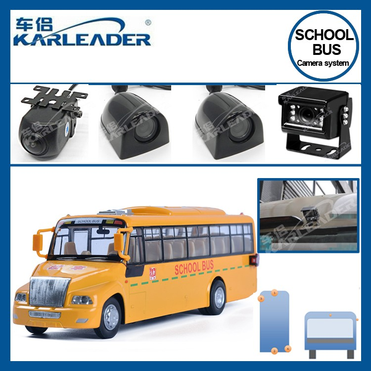 school bus camera system 24v for 4 channel video , for children safe school bus security camera , black box school bus dvr