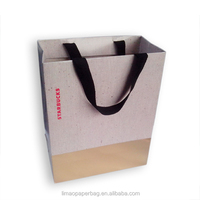 Custom promotional paper shopping bag for cloth