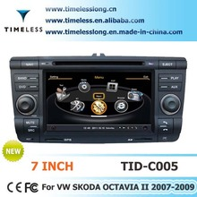 2 Din Car Audio for Skoda OCTAVIA II 2007-2009 with built-in GPS, A8 chipset, RDS,BT,3G/Wifi, 20 dics momery(TID-C005)