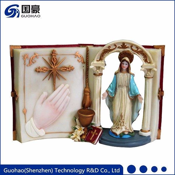 Catholic religious souvenirs antique praying resin virgin mary statues