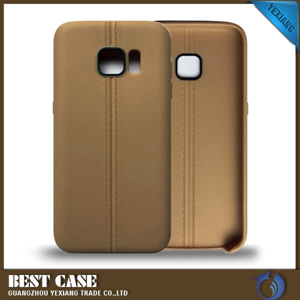 leather skin soft tpu case for samsung galaxy s7 cover with camera protect