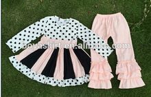 cheap baby girl clothes polke dot top and ruffle pants boutique remakes winter fall designer clothing sets garments outfit