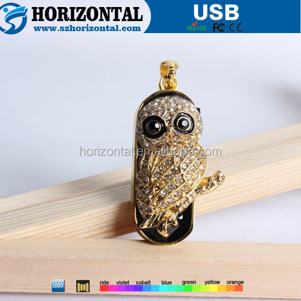 National electronic Alloy jewelry design OWL animal USB flash drive retailer
