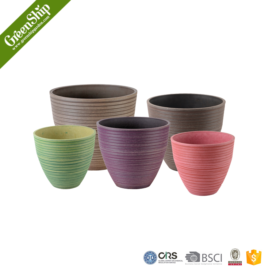 Decorative garden flower pots with self watering systems for Decorative outdoor pots