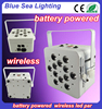 12*18w quad led battery flat par/led club light