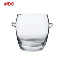 Factory cooler type tall crystal carlsberg beer glass ice bucket