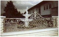 top sale iron balcony railing designs bamboo stair railing